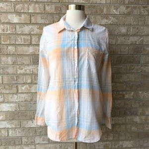 J Crew Plated Buttom Up Cotton Shirt Size M 🌸
